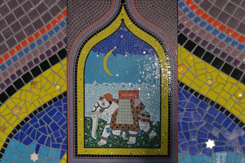 mozaiek boven de kast