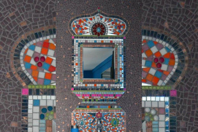 spiegel met mozaiek
