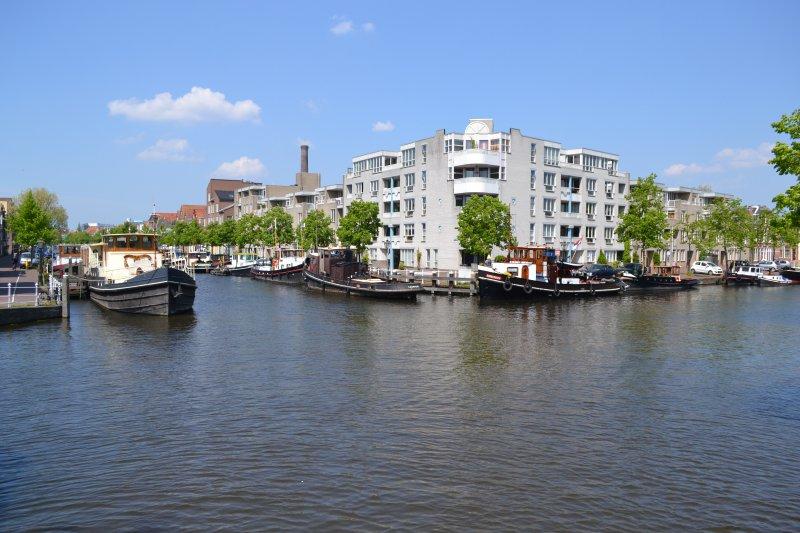 Historische haven van Leiden